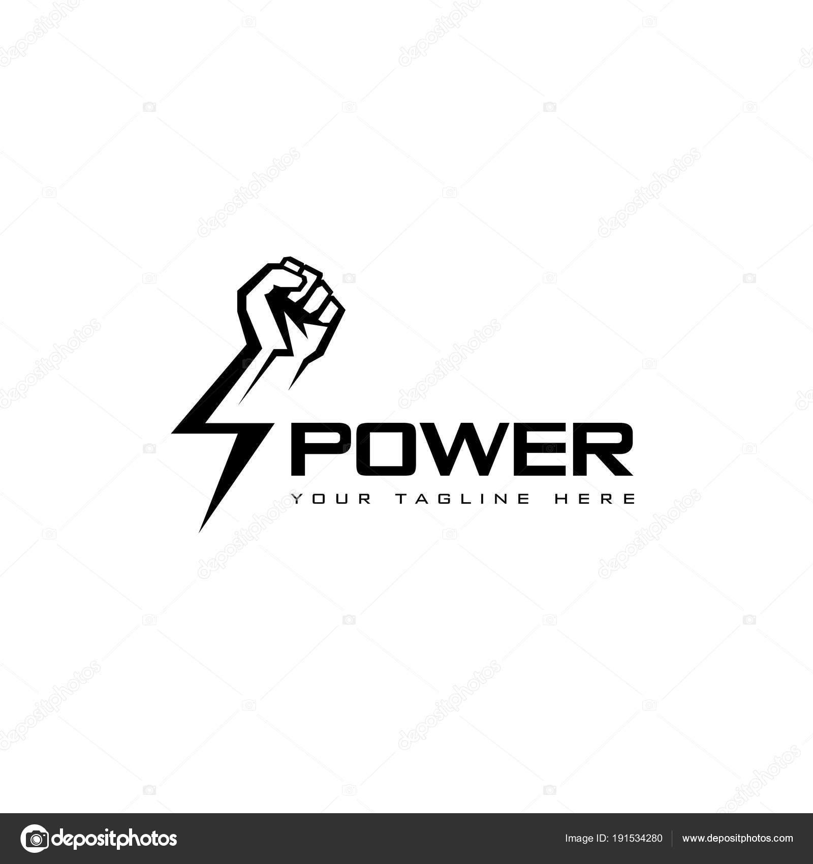 Plantilla Diseño Logotipo Vectorial Puño Mano Masculina Símbolo ...