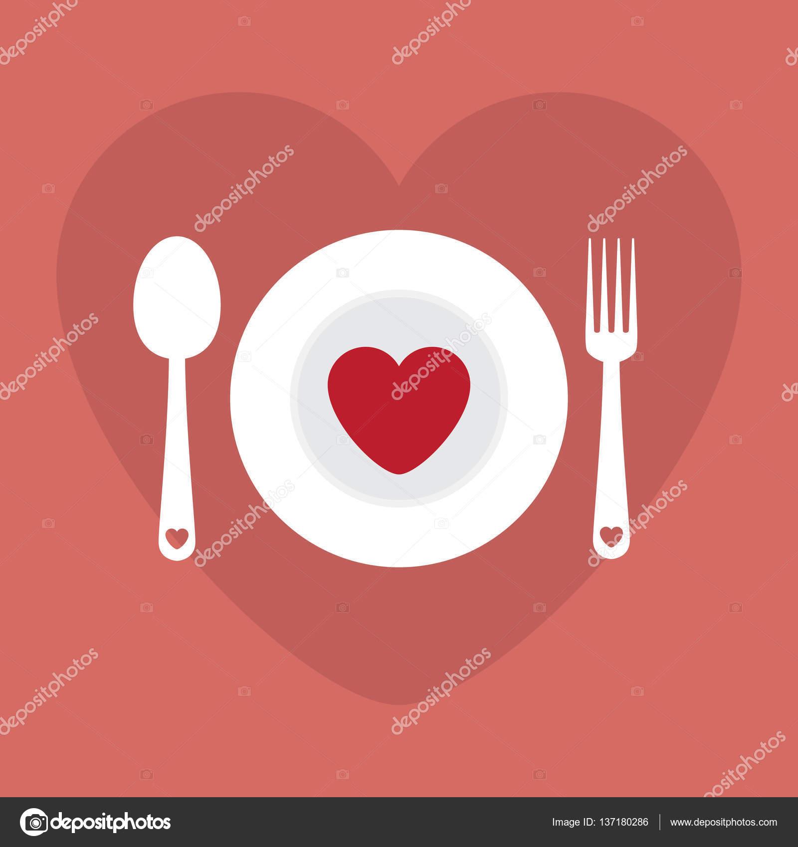 Grusskarte Liebe Romantisches Abendessen Menu Happy Valentinstag