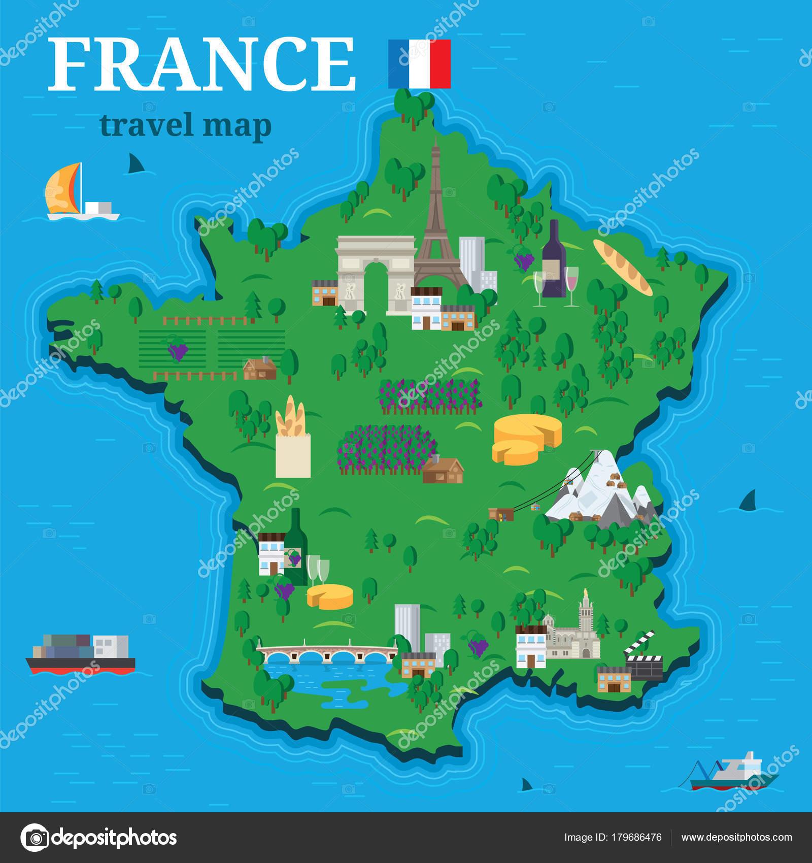Mapa Turistico De Francia.Mapa Viajero Mapa De Francia Para Viajero Con Turisticas