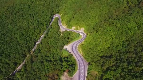 Klikatá cesta lesem - letecký pohled