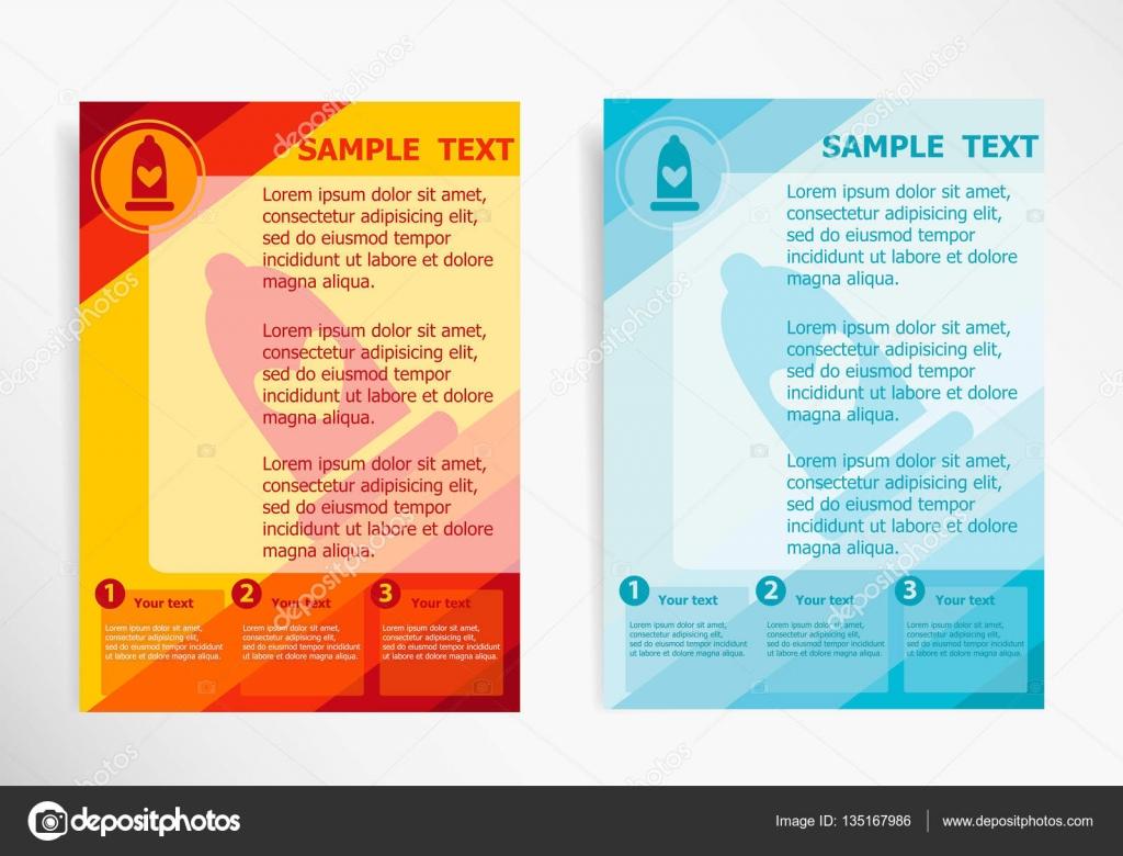 Kondom-Symbol Symbol auf abstrakte Vektor moderne Flyer, Broschüre ...