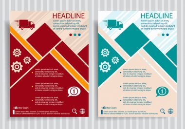 Fast delivery service  flat symbol modern flyer, brochure vector