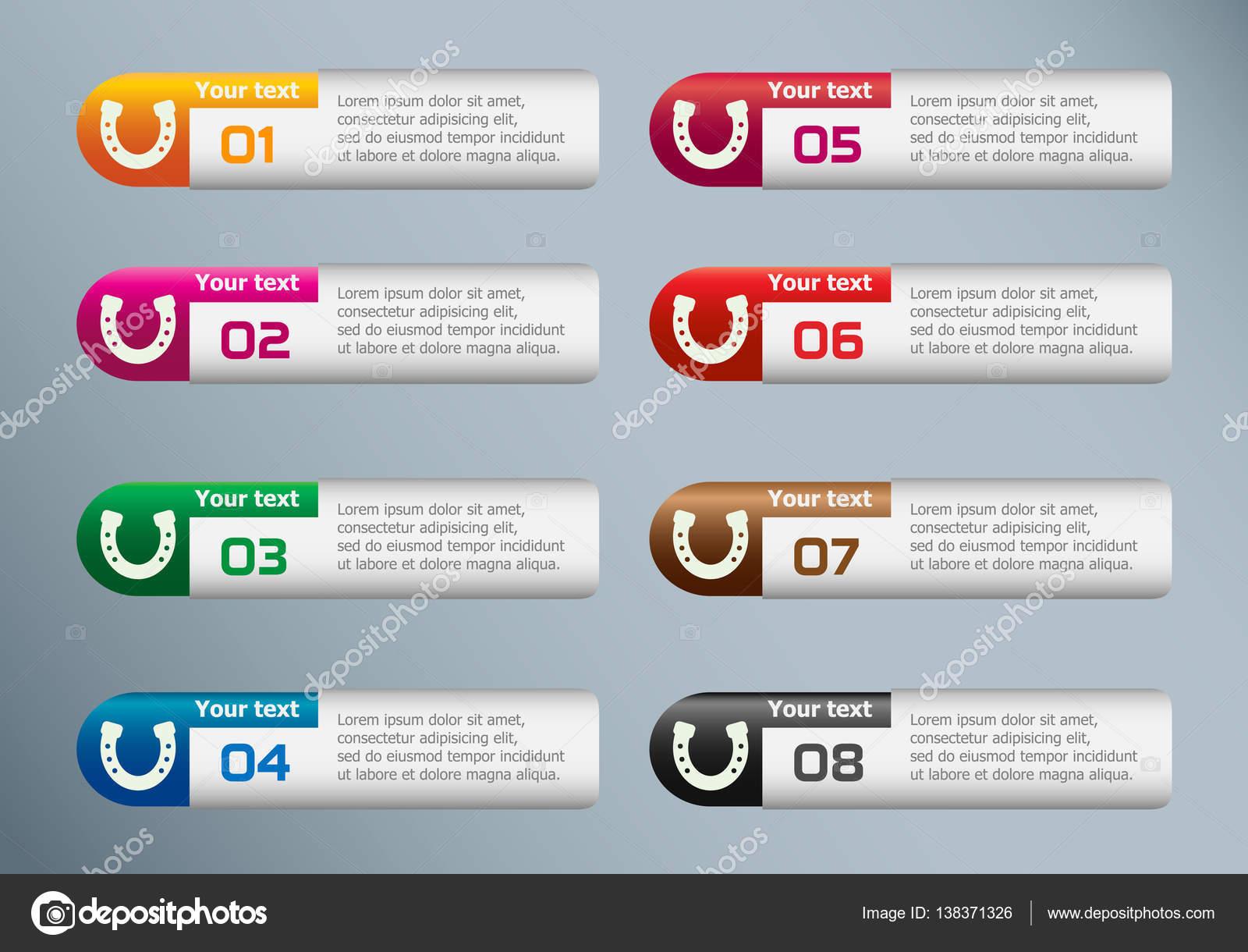 Hufeisen Und Marketing Symbole Auf Infografik Design Vorlage