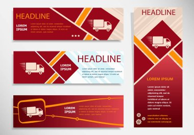 Website headers of Fast delivery service