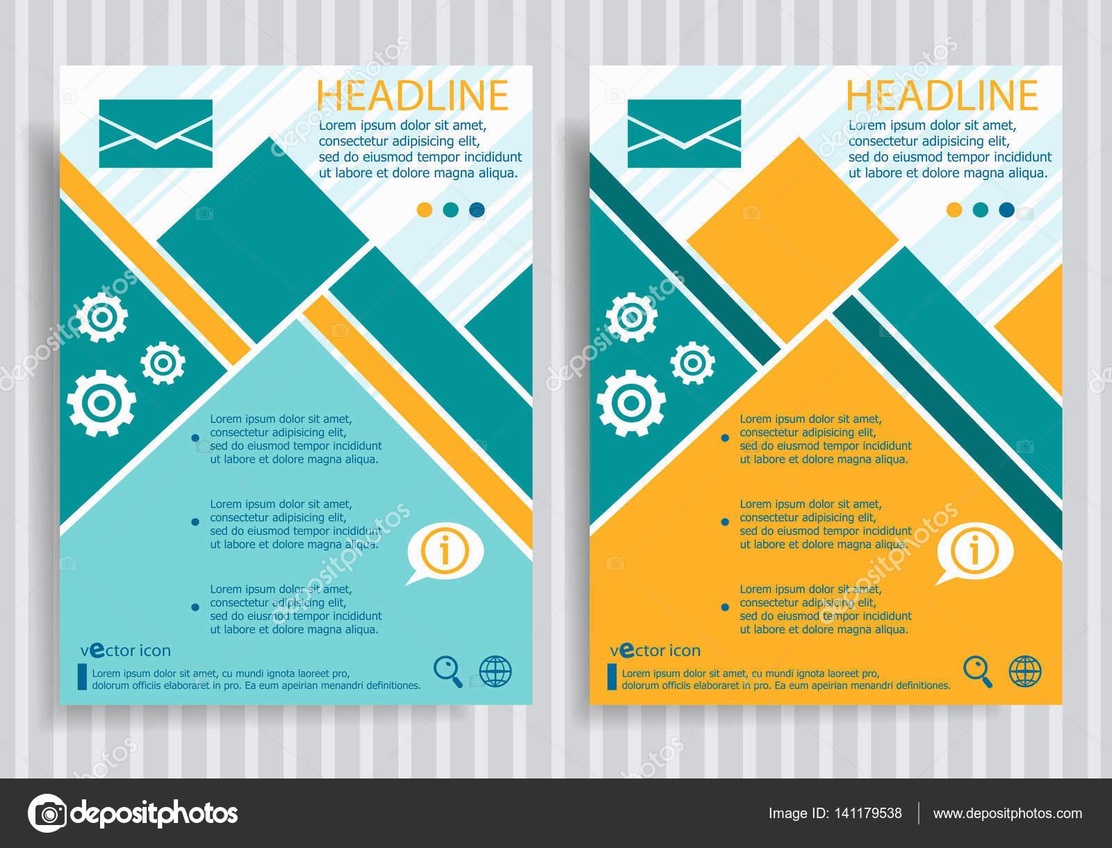 Web-Briefumschlag-Symbol auf Vektor Broschüre Flyer Design Layout ...