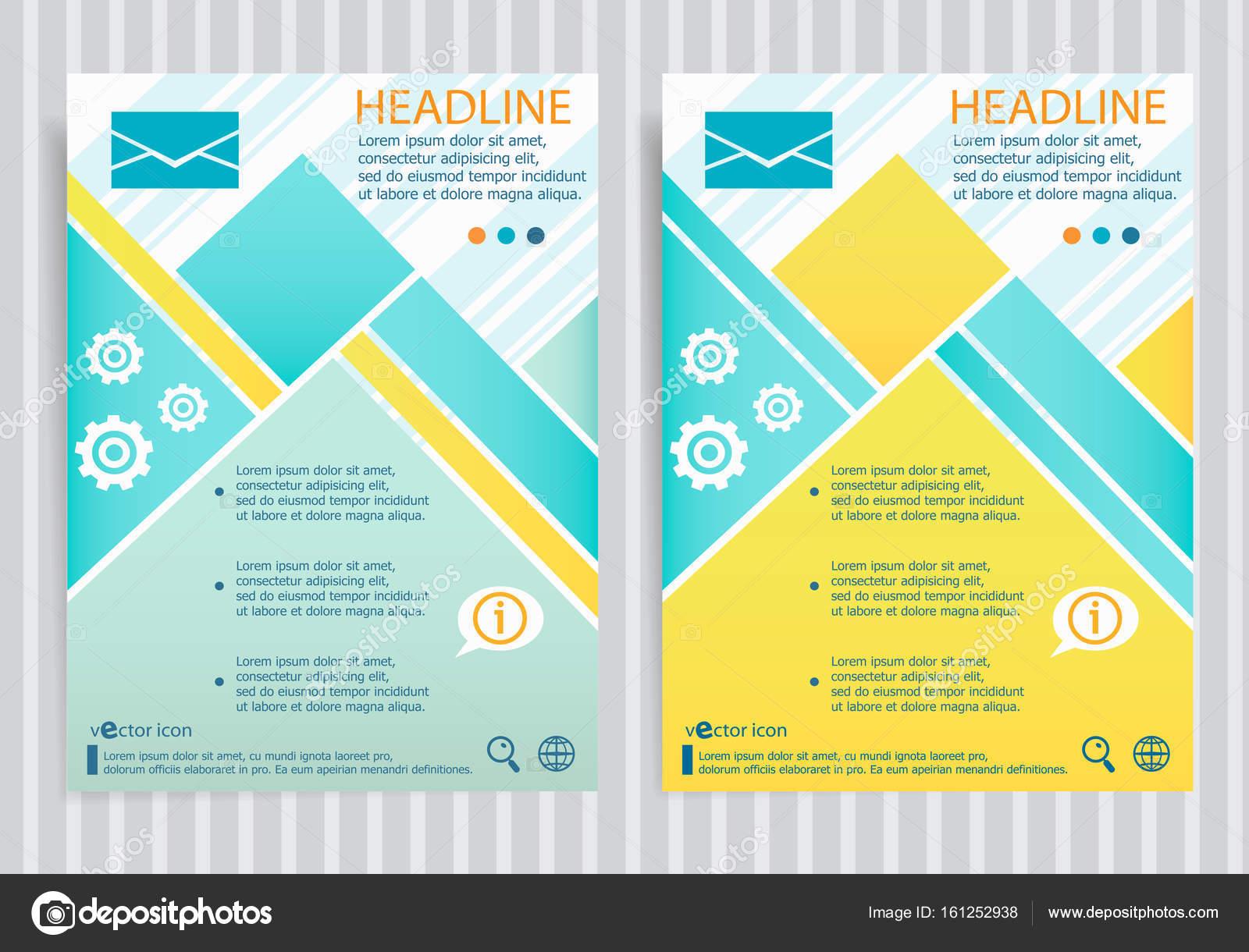 Briefumschlag-Symbol auf Vektor-Broschüre-Flyer-Design-Layout ...