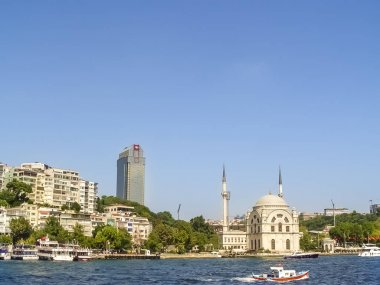 Ortakoy mosque at the  Bosphorus canal in Istanbul