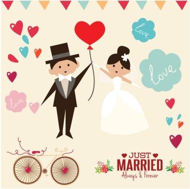 wedding invitation card template vector.