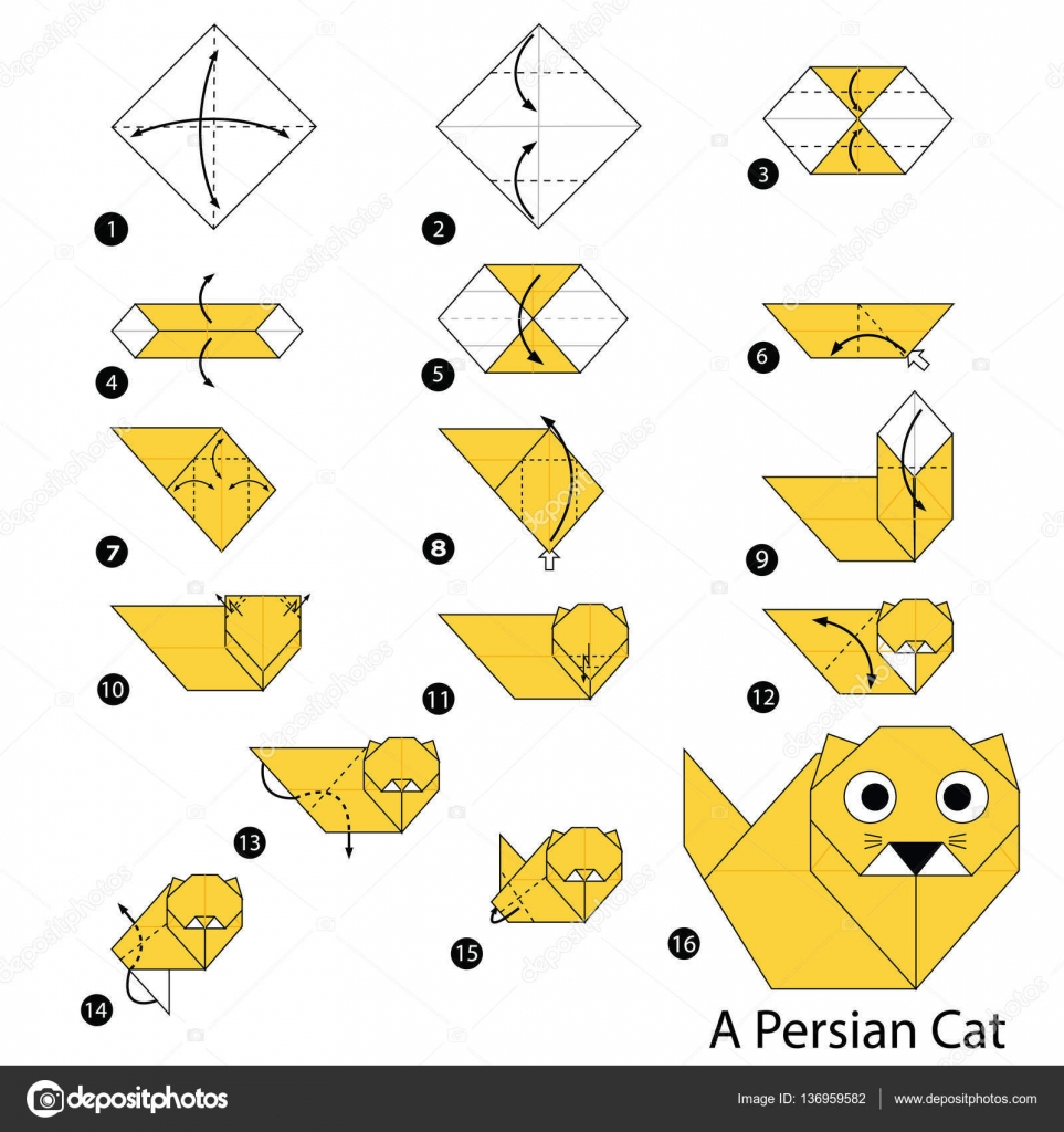 step by step origami cat 28 images how to make an