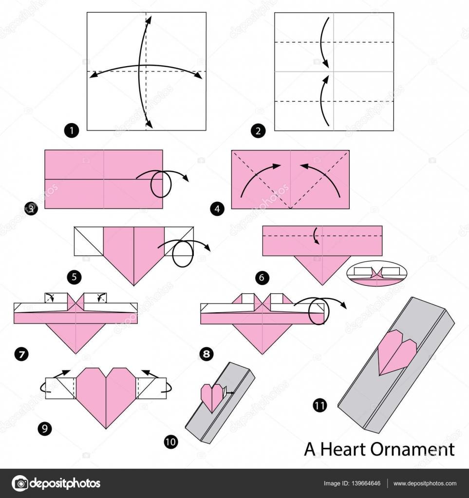 Origami Instrucciones Corazon Paso A Paso Las Instrucciones De - Origami-corazn
