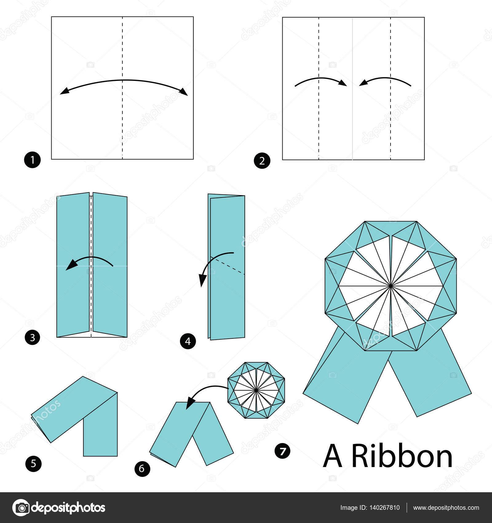 Handmade: Tutorial: Origami Ribbon Bow | 1024x963