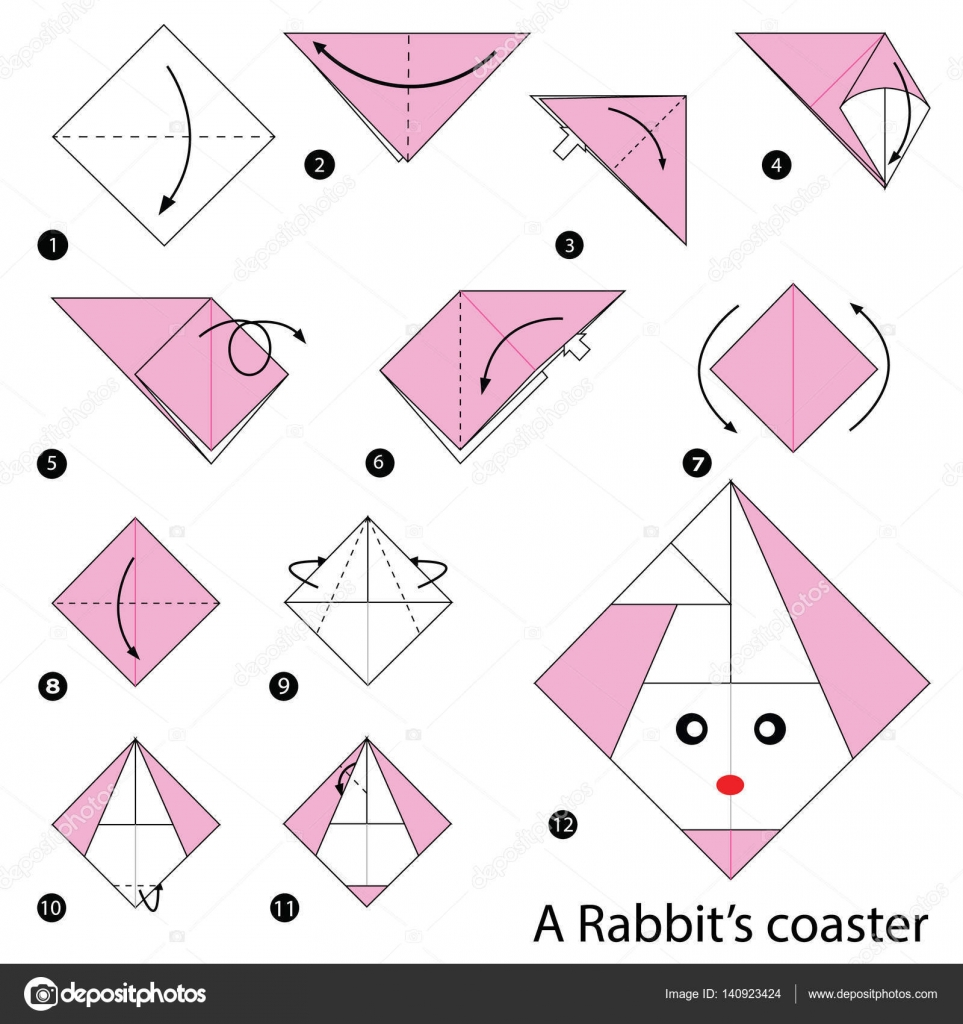 Easy Origami Rabbit Instructions | Origami ball, Origami kunst ... | 1700x1600