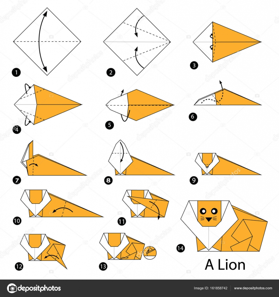 step by step origami - HD974×1080