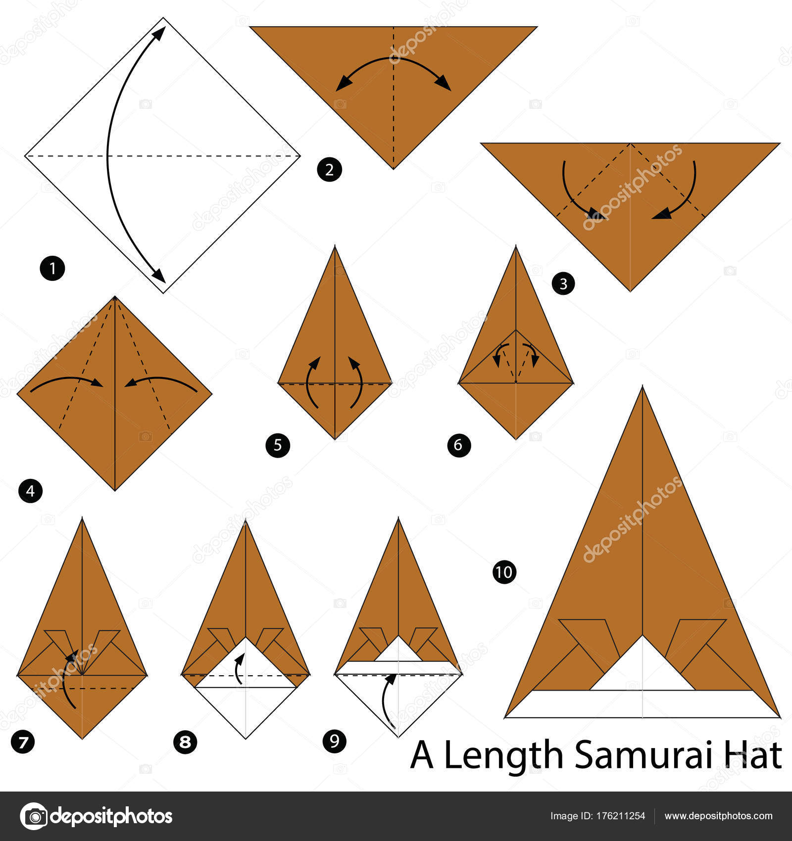 How to make an origami sun hat: page 1 | 1700x1600