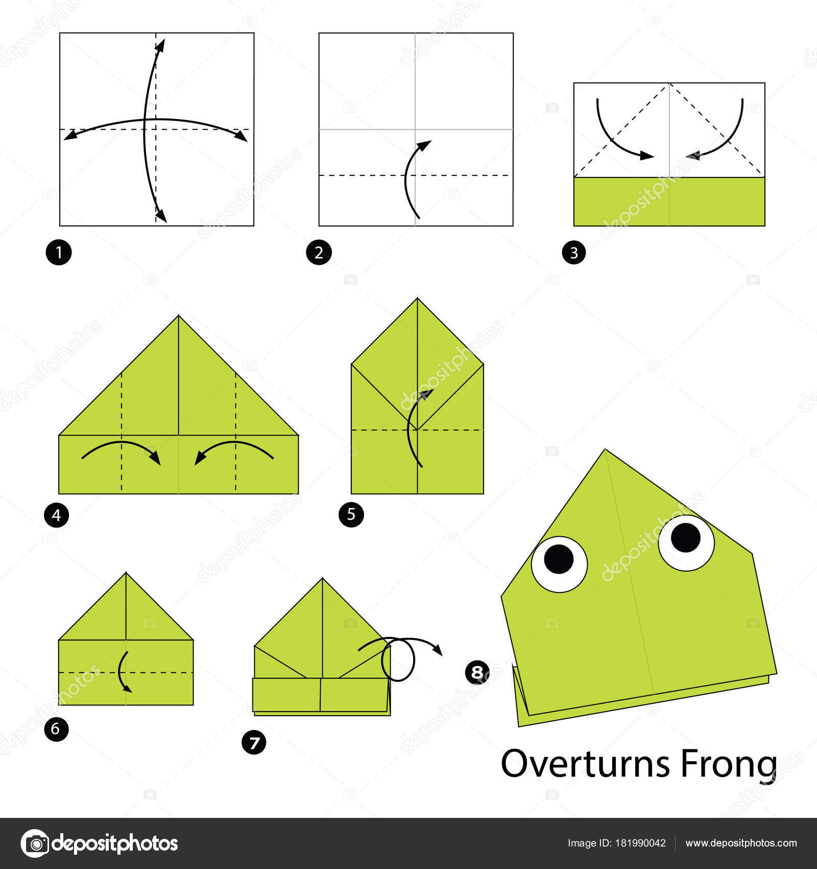 How to fold EASY ORIGAMI JUMPING FROGS. This jumping frog is the ... | 1700x1600