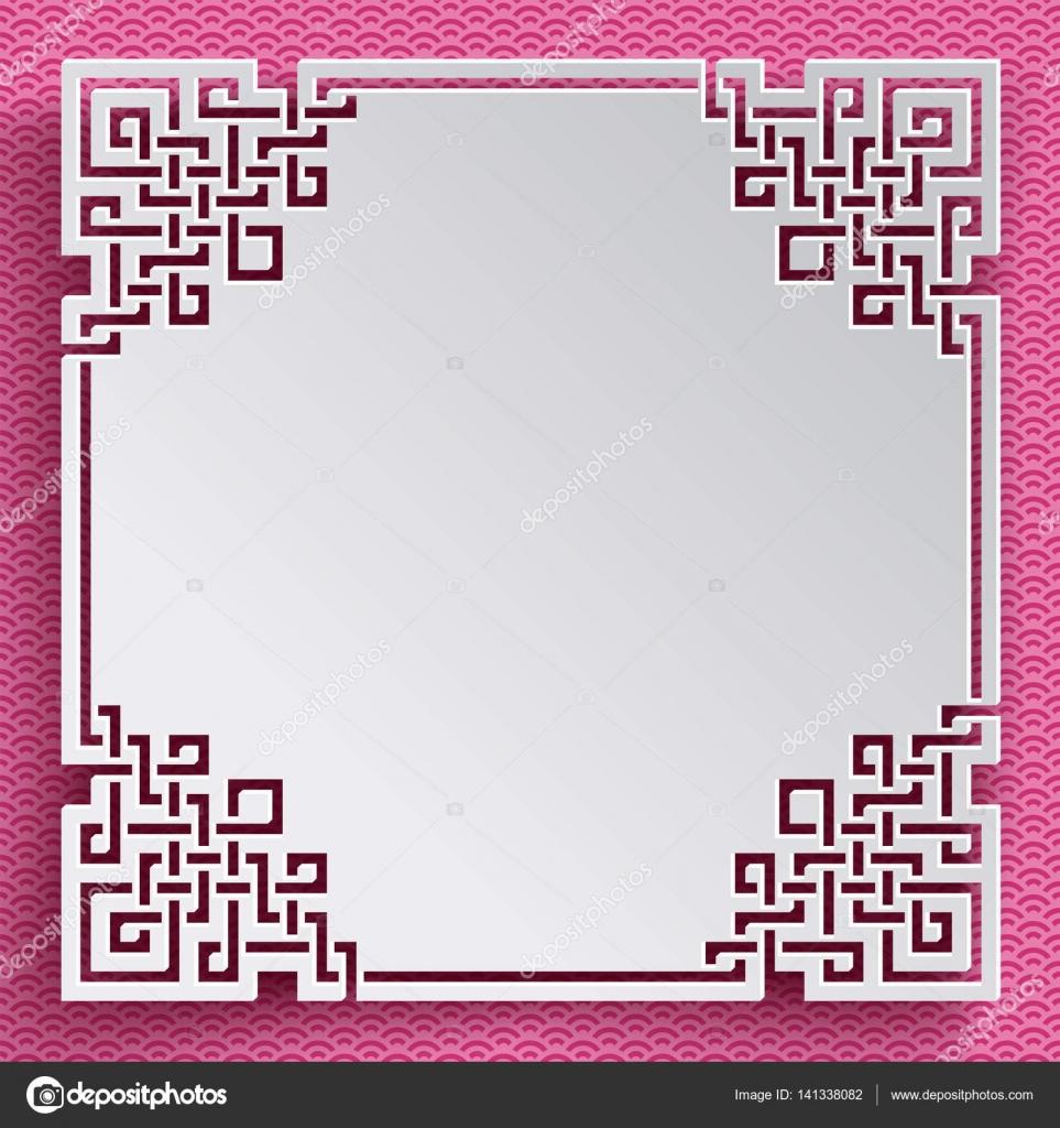 marco cuadrado modelo chino — Vector de stock © shlyapanama #141338082