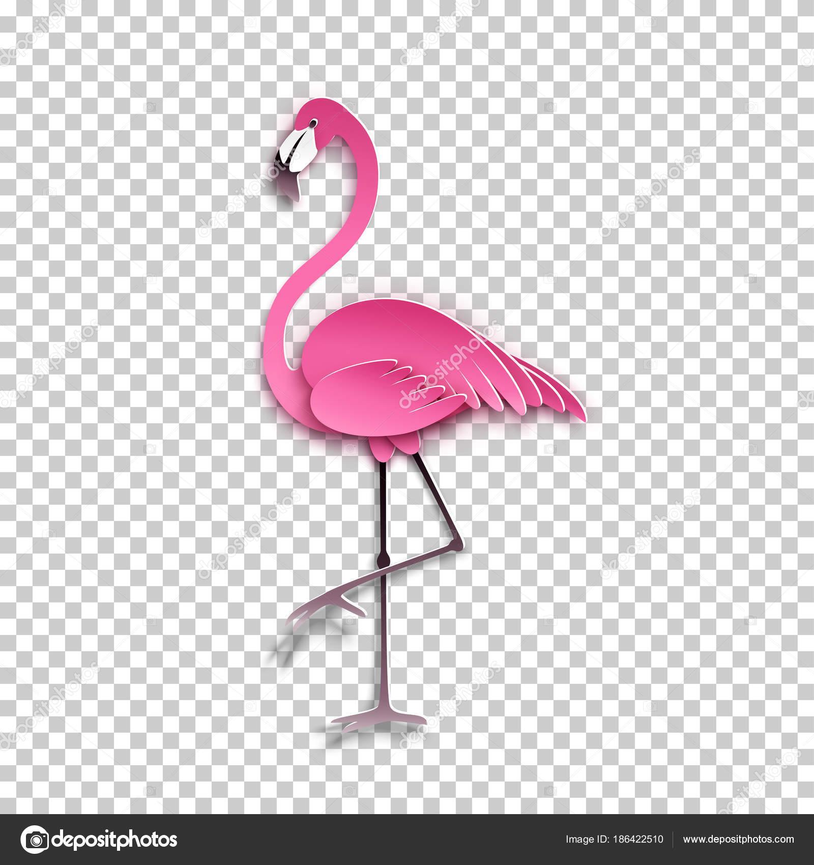 Rosa Flamingo Em Pé Em Uma Perna Aves Exóticas Africanas Adesivo