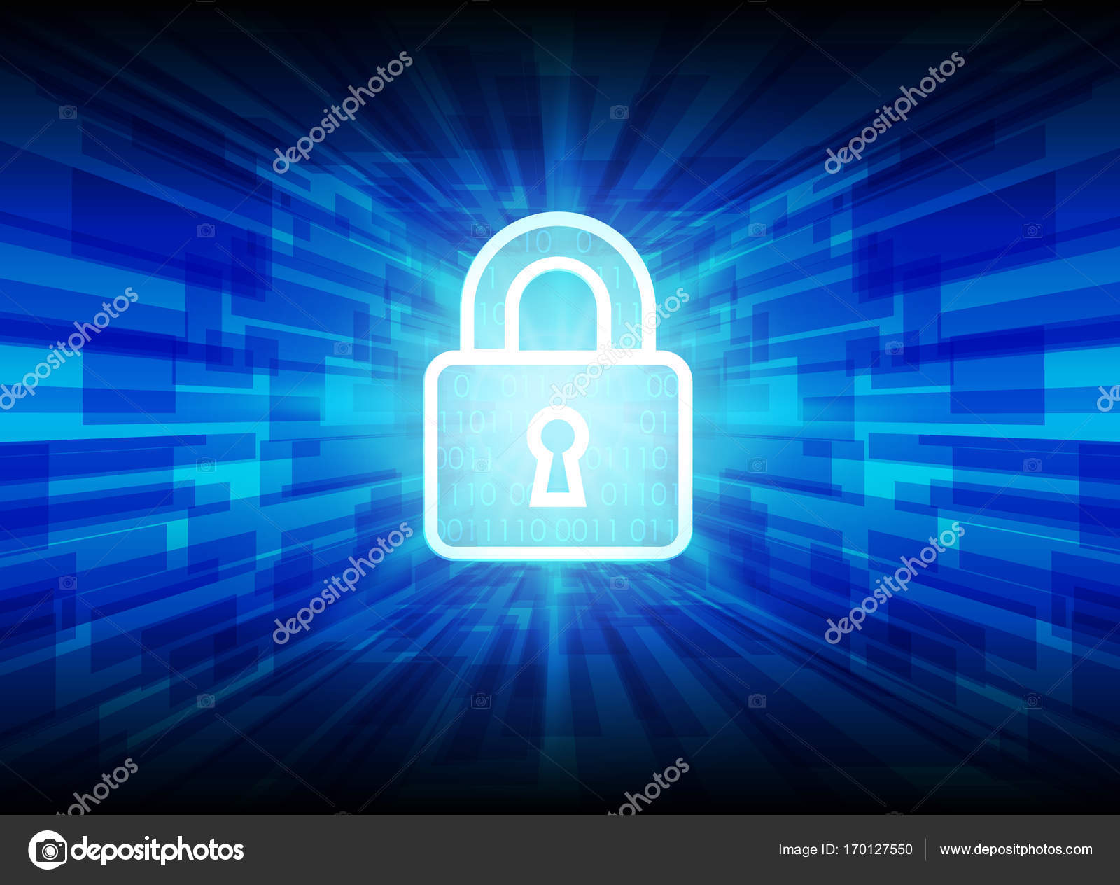Cyber Security Data Protection Business Technology Privacy Conce Stock Vector
