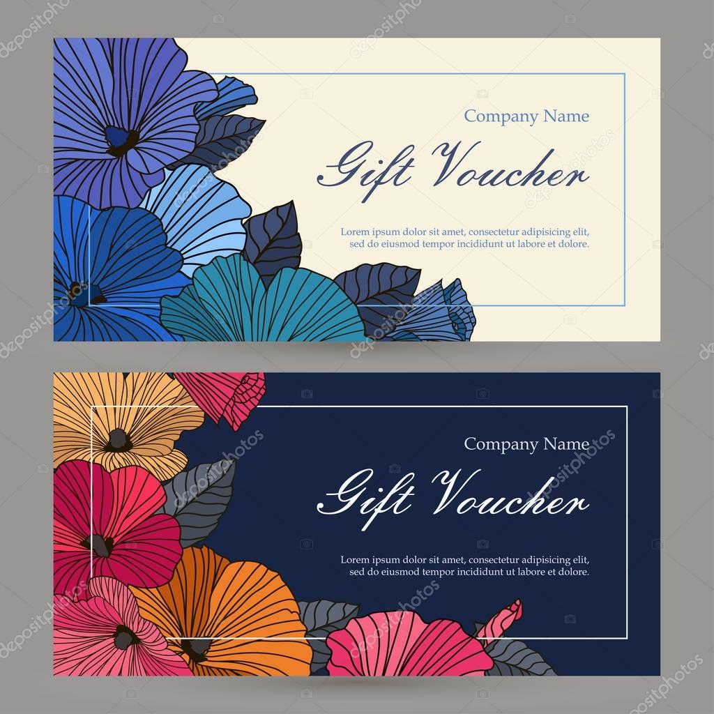 Set of floristic gift elements of corporate identity