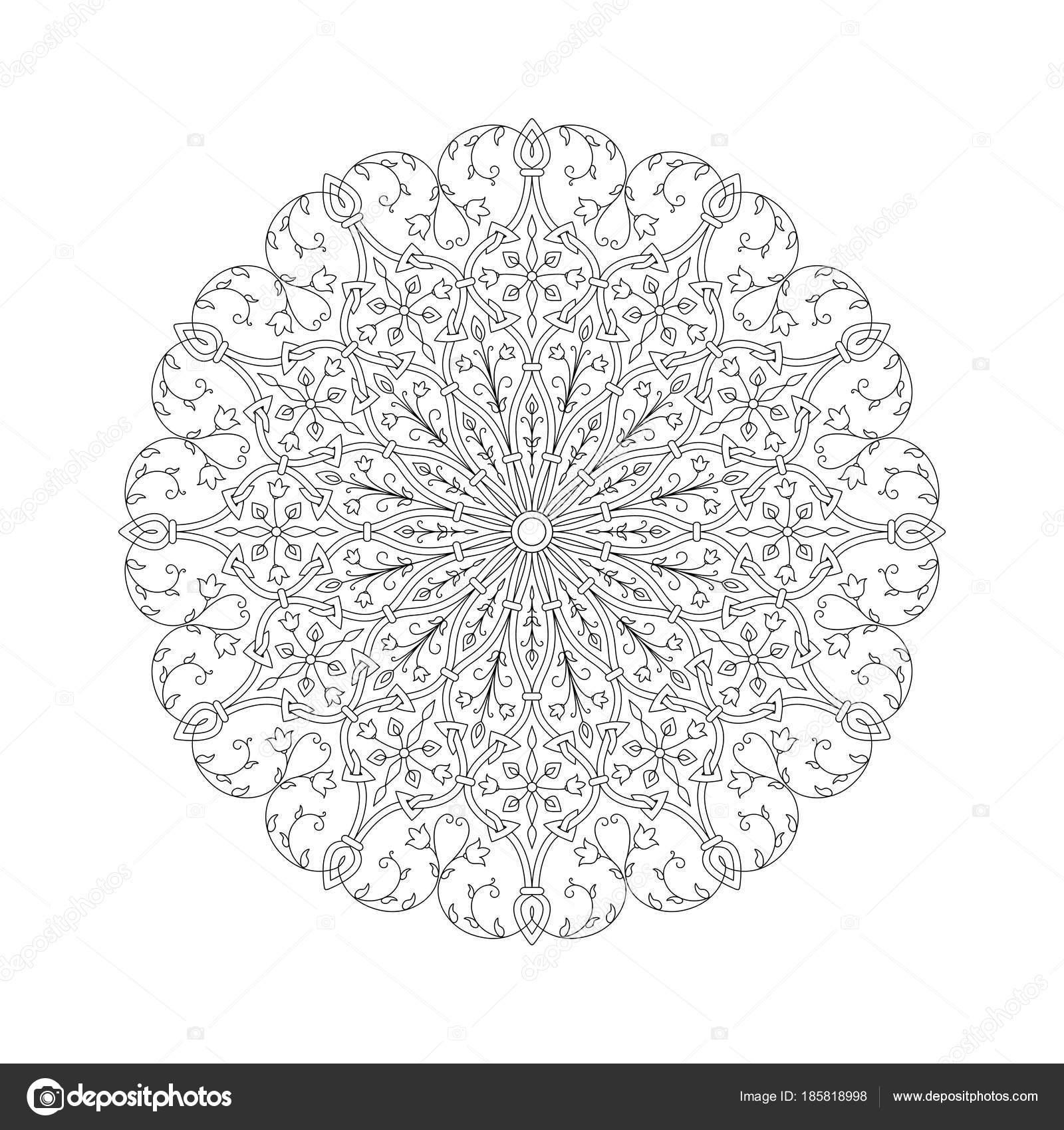 круглые абстрактного орнамента раскраски книги для взрослых