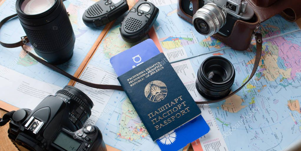Set for travel photography, photo story,