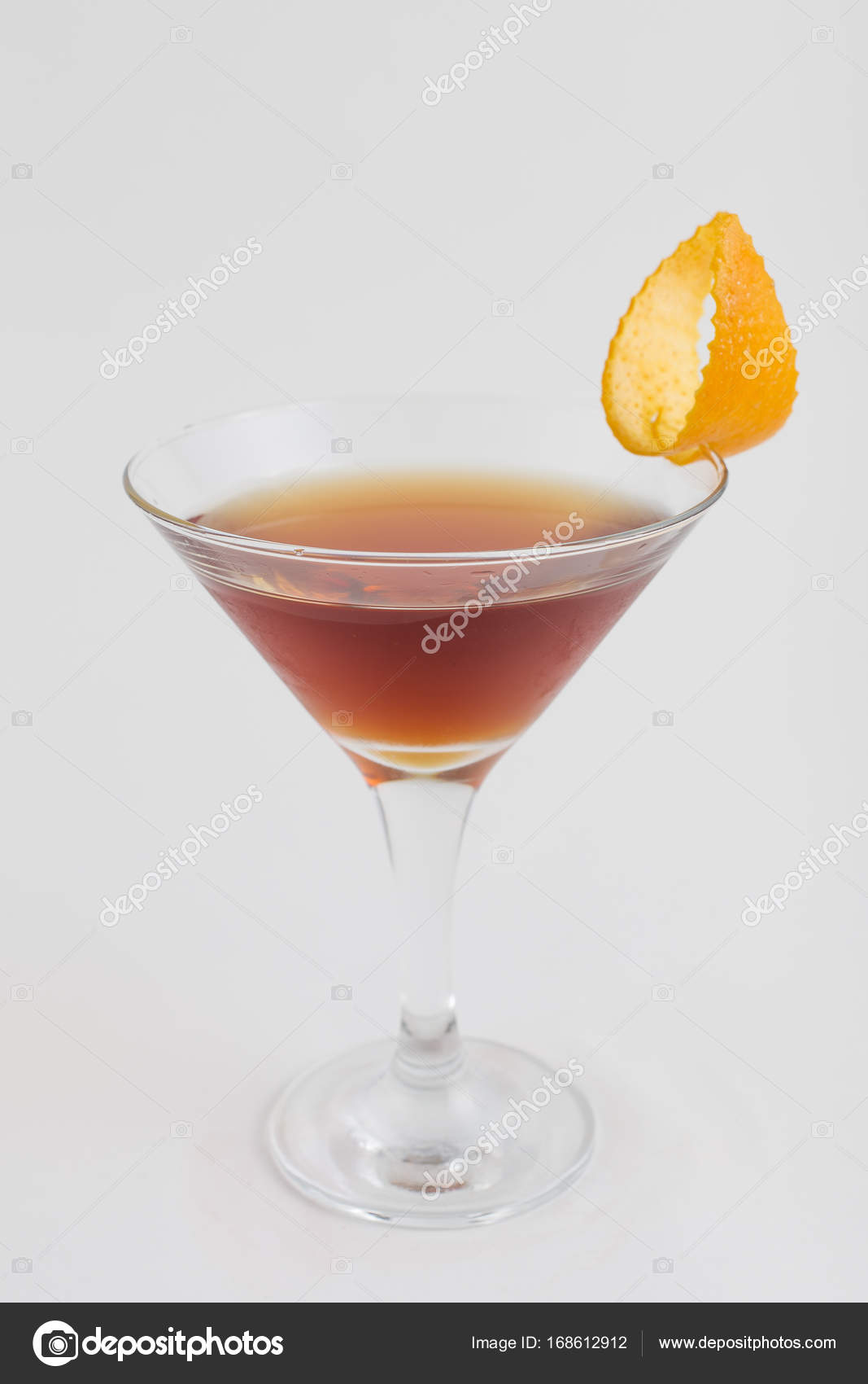 cocktail martinez with a neat orange stock photo tkachenkoalexx