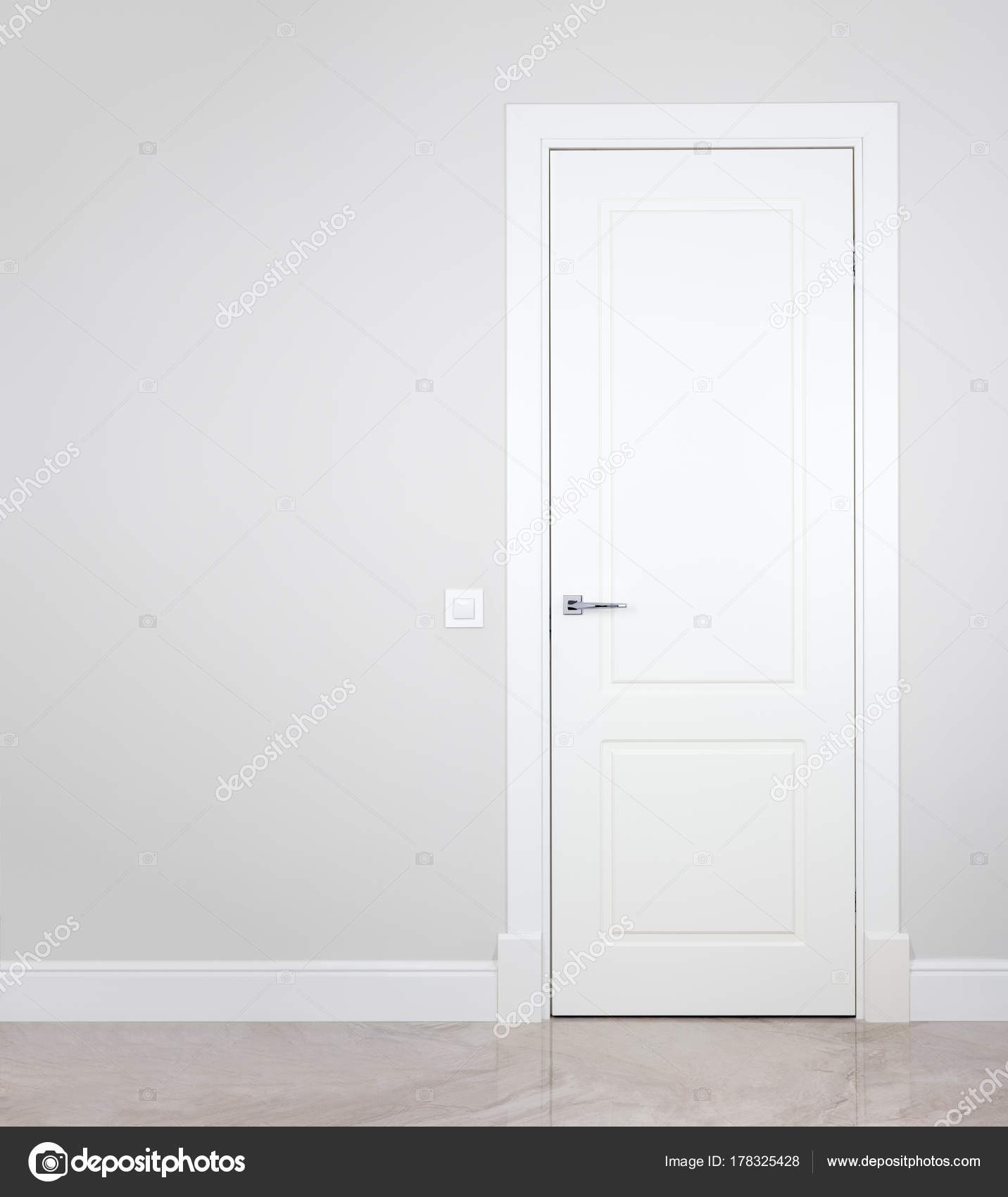 modern white interior door. Modern White Door. Grey Wall With Free Space. Minimalist Bright Interior \u2014 Stock Photo Door P