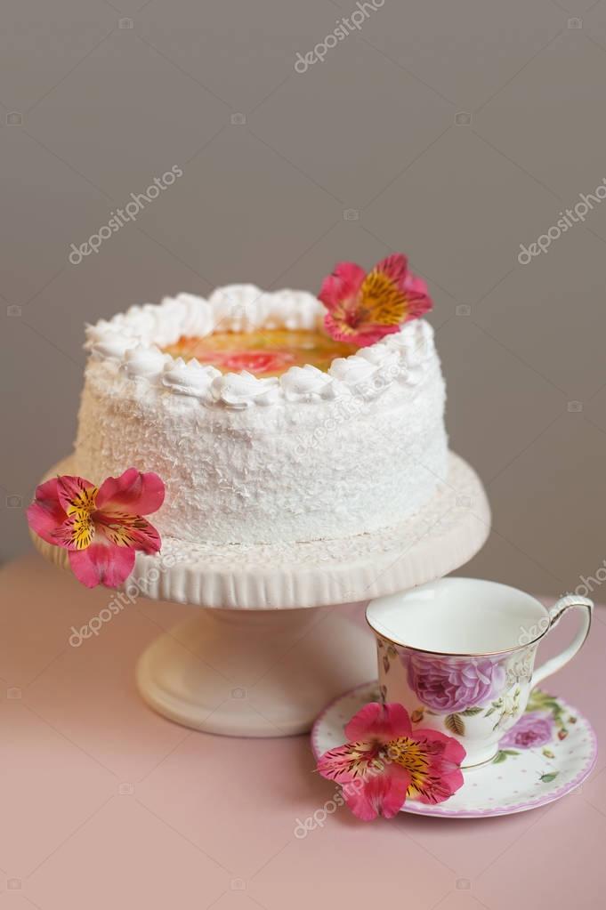 Flores Dulces Para Decorar Tortas Pastel Dulce Casero Con Crema