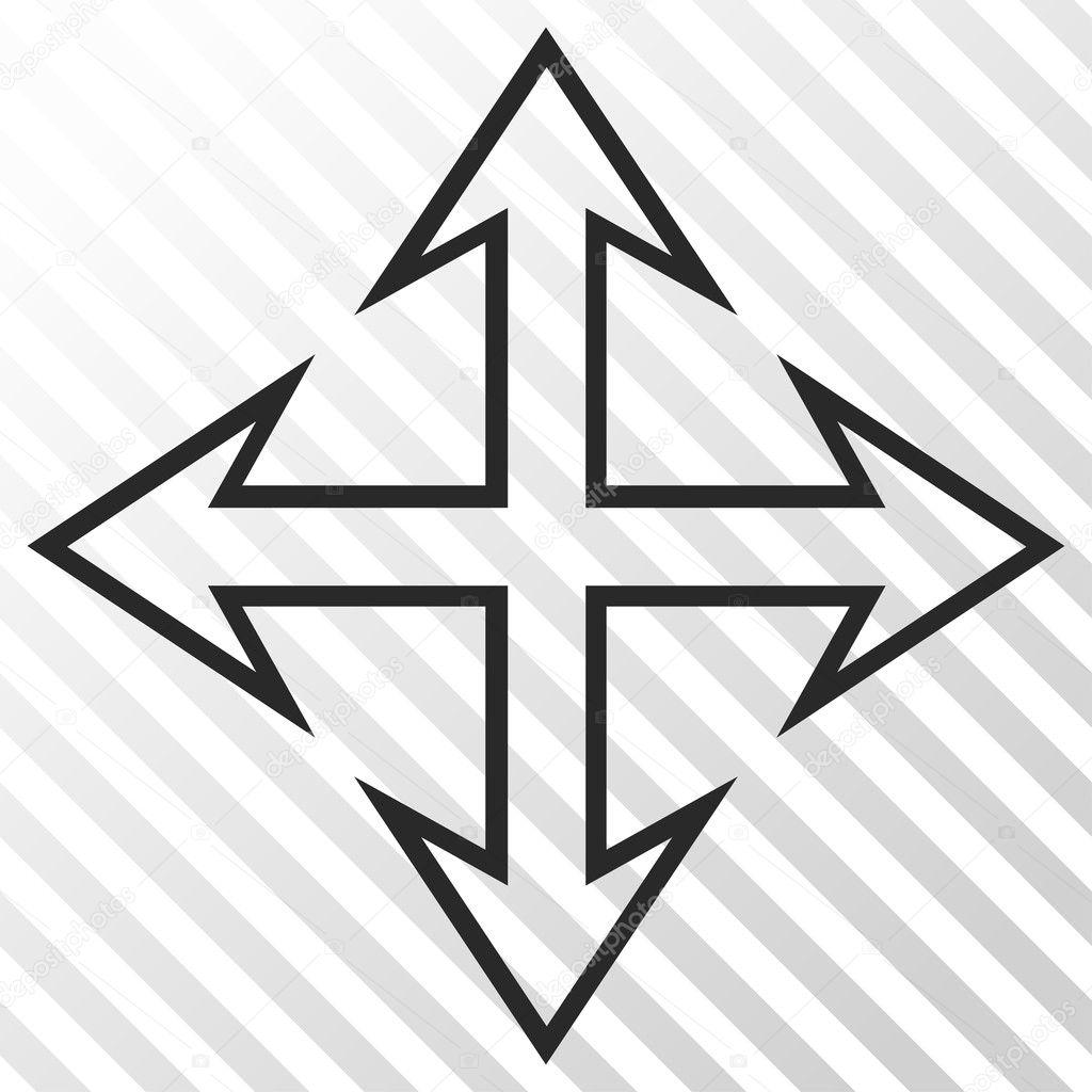 Expand Arrows Vector Icon — Stock Vector © anastasyastocks
