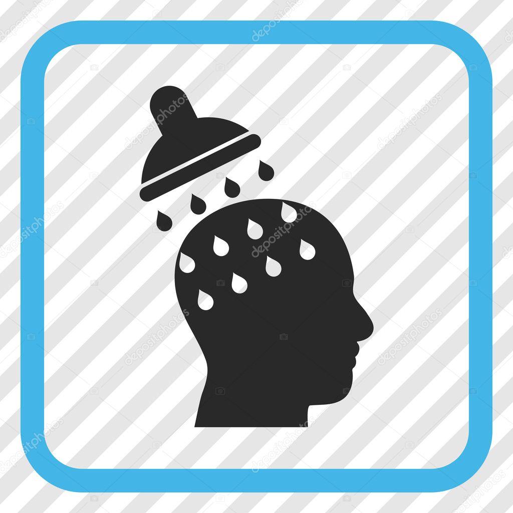 Brain Washing Vector Icon In a Frame — Stock Vector ...