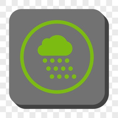 Rain Cloud Rounded Square Button