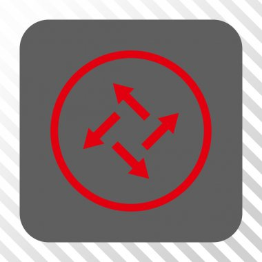 Centrifugal Arrows Rounded Square Button