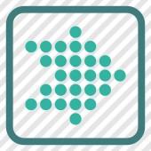Tečkovaná šipka vpravo vektorové ikony v rámečku