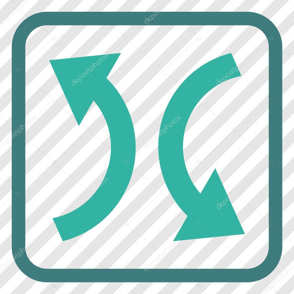 Intercambio de flechas Vector icono en un marco — Vector de stock ...