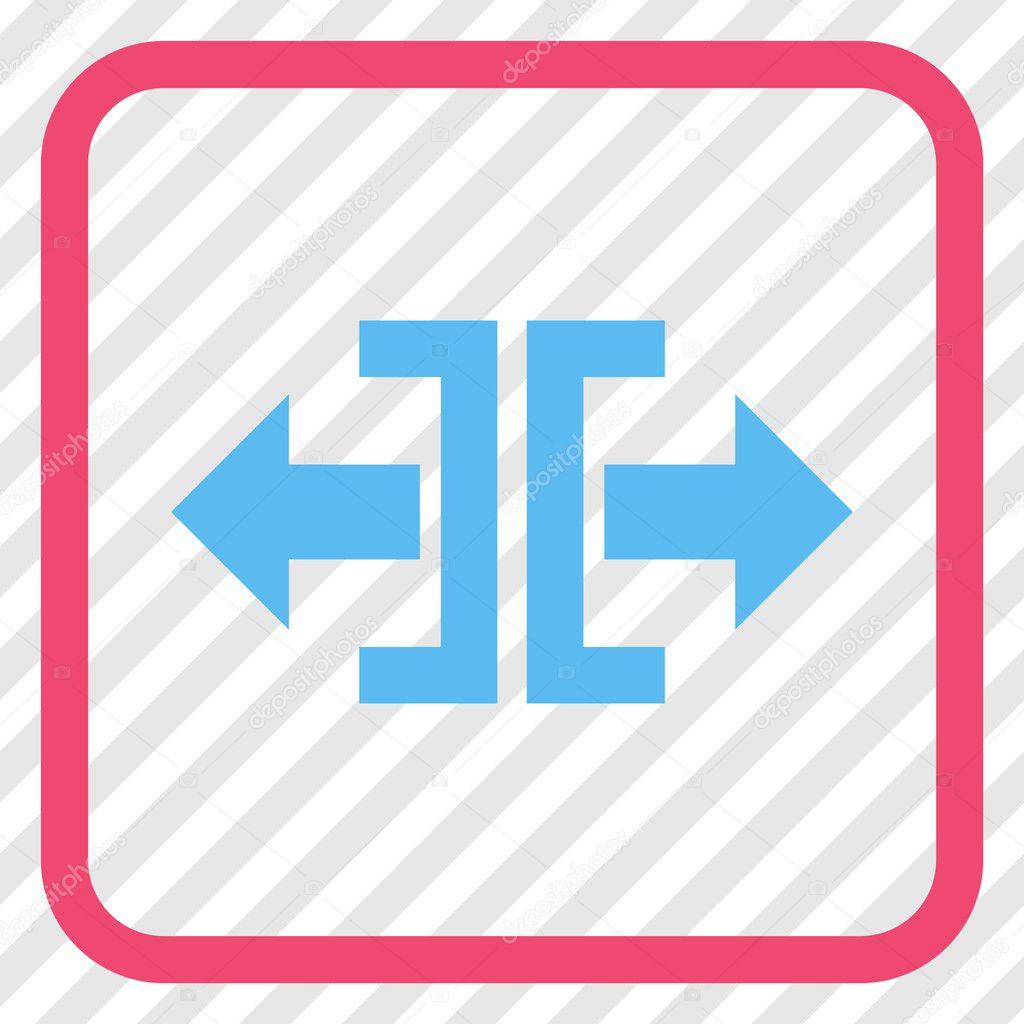 Dividir en un marco de dirección Horizontal Vector icono — Vector de ...