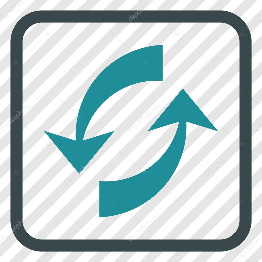 Intercambio de flechas Vector icono en un marco — Archivo Imágenes ...