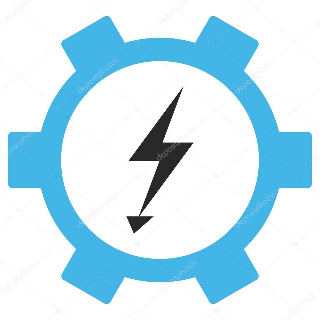 Elektrische Energie-Zahnrad-Vektor-Eps-Icon — Stockvektor ...