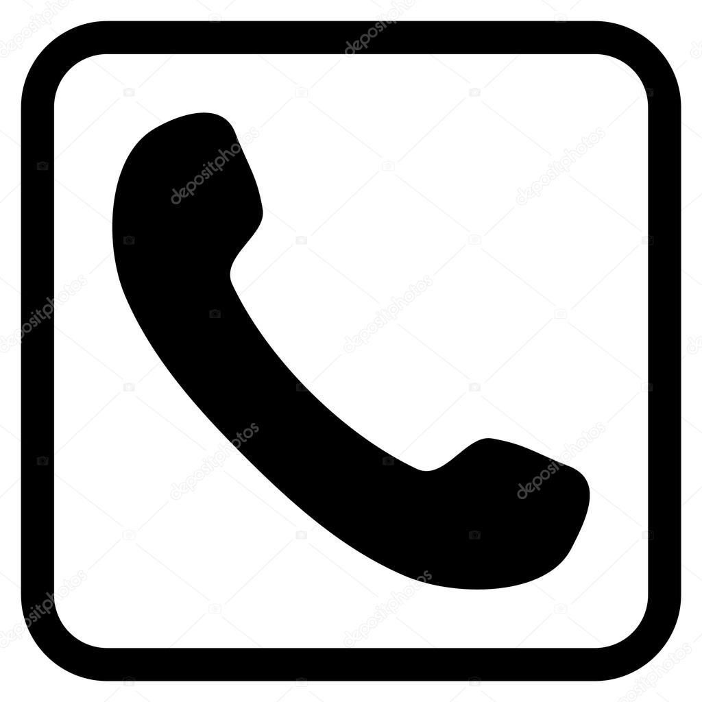 Icono de Vector de receptor de teléfono en un marco — Vector de ...