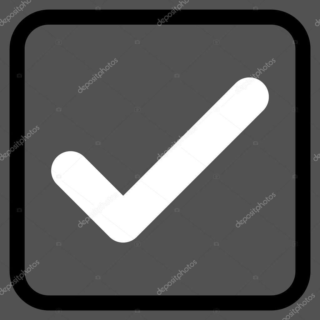 OK Vector icono en un marco — Vector de stock © anastasyastocks ...