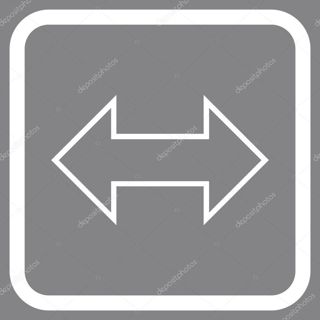 Icono de Vector Horizontal de intercambio en un marco — Archivo ...