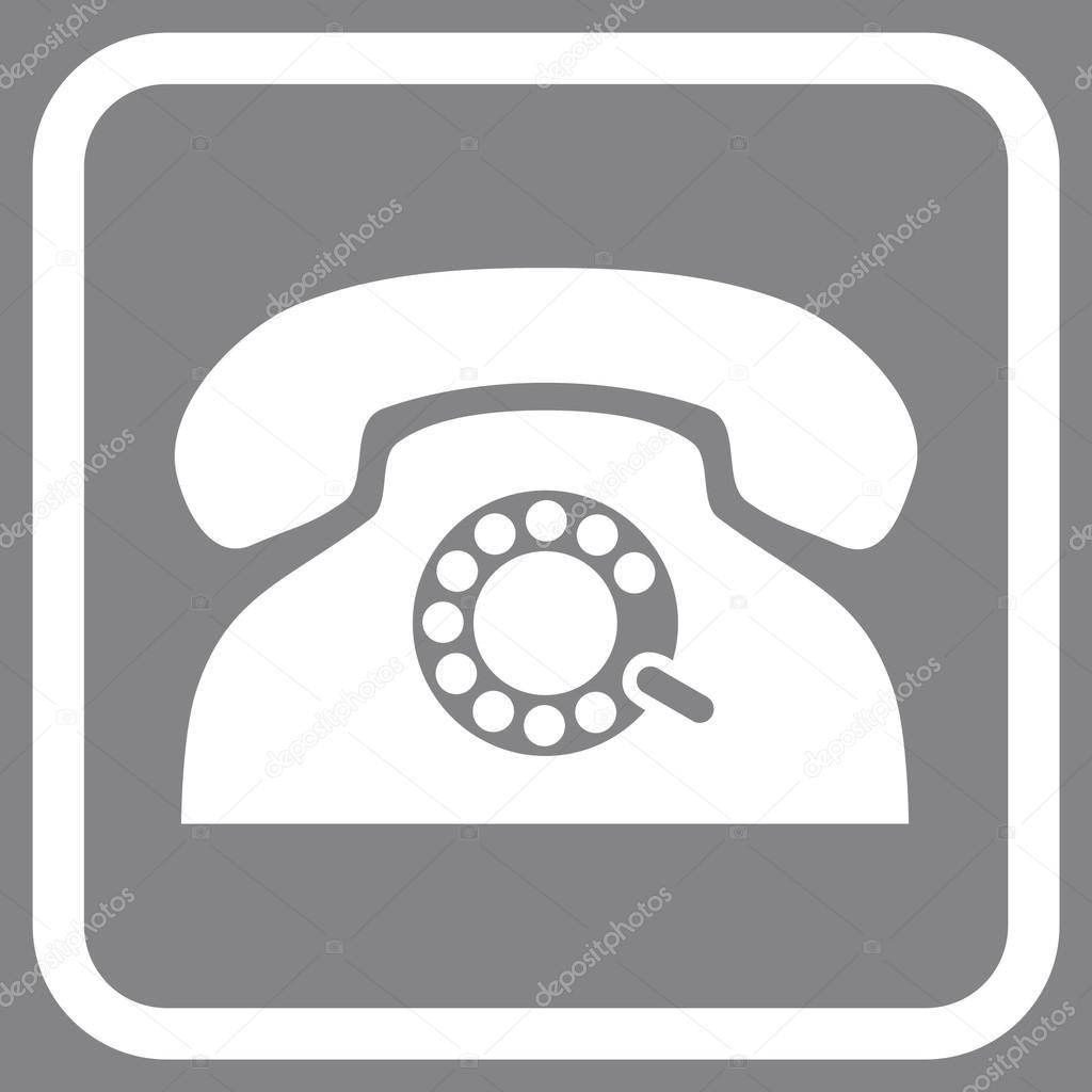 Pulse Phone Vector Icon In a Frame — Stock Vector © anastasyastocks ...