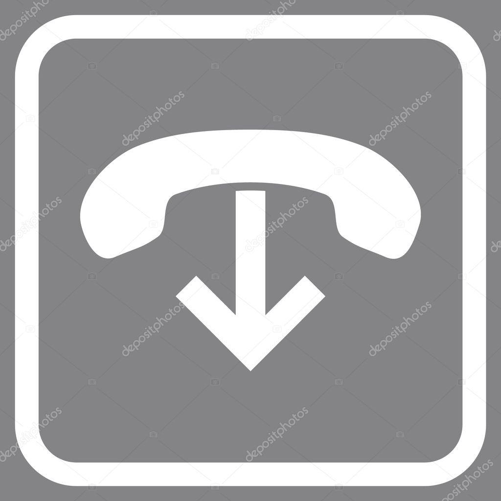 Teléfono colgar Vector icono en un marco — Vector de stock ...