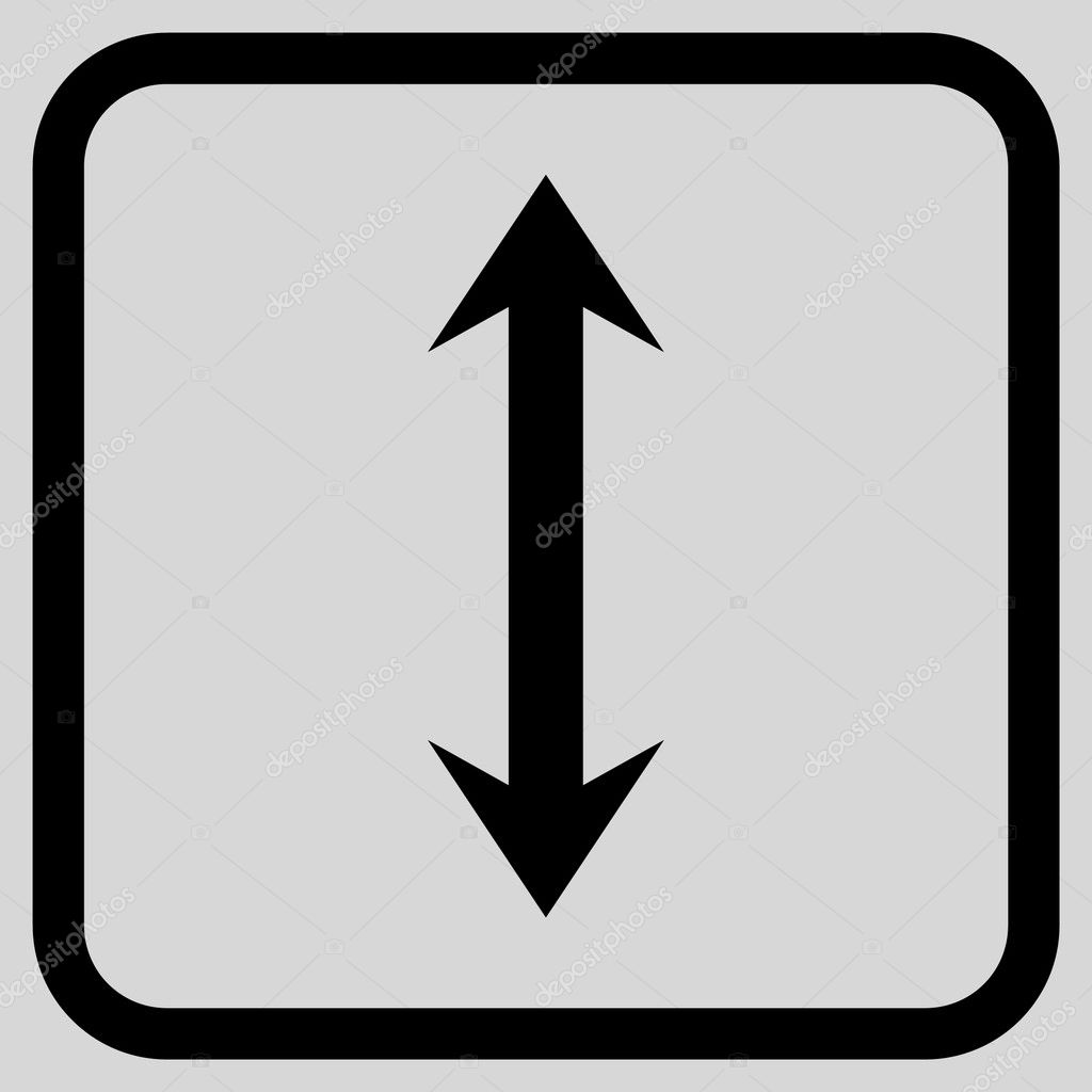 Vertical Flip Vector Icon In a Frame — Stock Vector ...