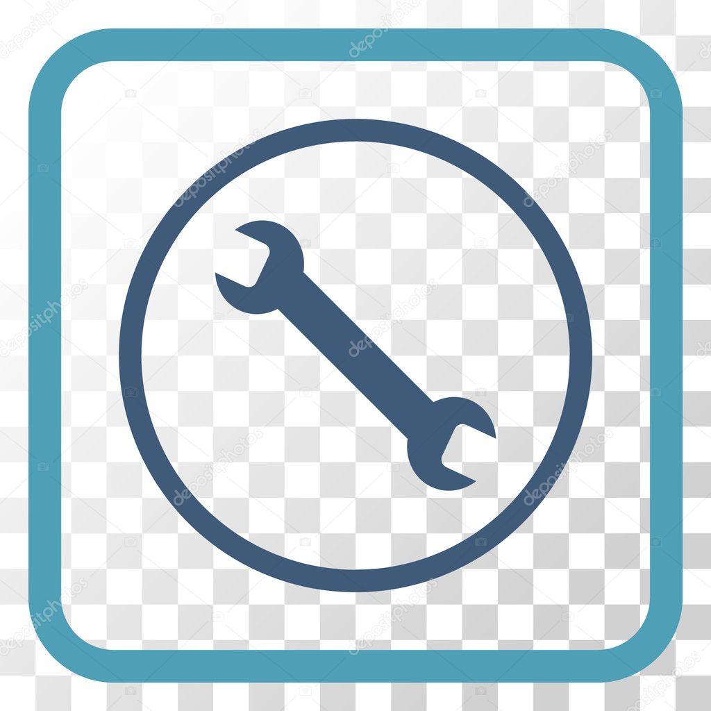 Icono de Vector de llave inglesa en un marco — Archivo Imágenes ...