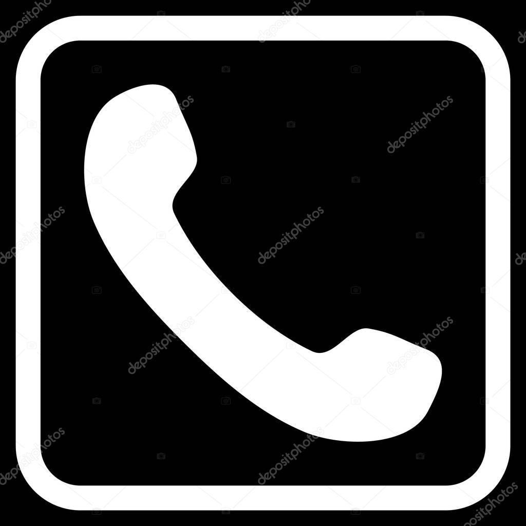 Icono de Vector de receptor de teléfono en un marco — Archivo ...