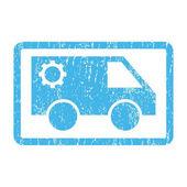 Szolgáltatás-autó ikon gumibélyegző
