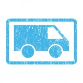 Van Icon Rubber Stamp