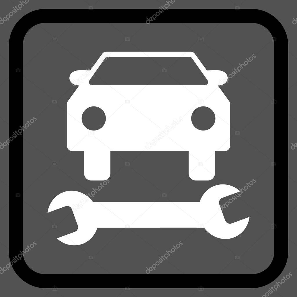 Reparación de coche Vector icono en un marco — Vector de stock ...