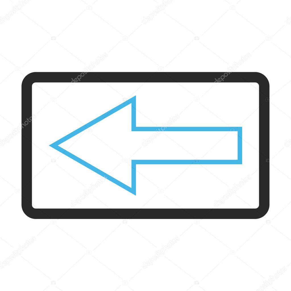 Pfeiltaste nach links gerahmt Vektor Icon — Stockvektor ...