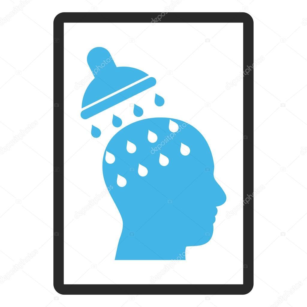 Gehirn waschen gerahmt Vektor Icon — Stockvektor © anastasyastocks ...